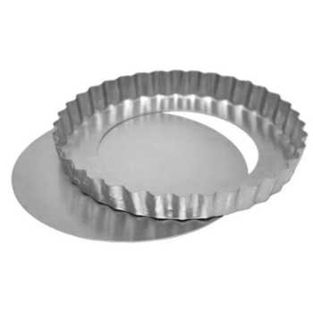 Forma De Alumínio Para Torta Fundo Removível Doupan 25x3cm - 8807