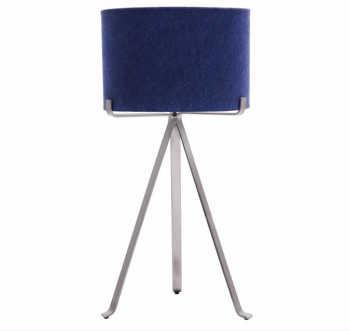 Luminária Tripé Ferro- Azul Marinho