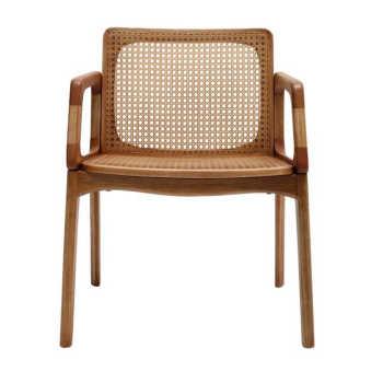 Cadeira Com Braço Mell Palha