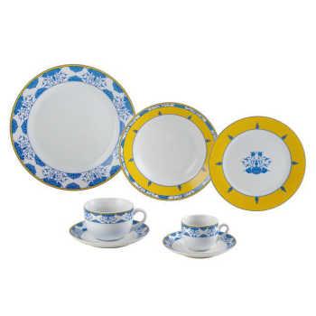 Jogo De Jantar 42 Pecas  Porcelana  Amalfi- Wolff 31017181