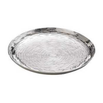 Bandeja Pequena Redonda De Alumínio Niquelado 17cm - Lyor 4101096